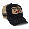 35962 - Hat, Black and Tan, Retro Trucker - thumbnail