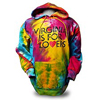VA41001 - Retro Logo Rainbow Hooded Sweatshirt - thumbnail