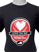 "VA92616 - ""Love on Tap"" Black T-Shirt - thumbnail"