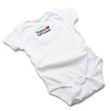 V17838 - Cotton Onesie, White - thumbnail