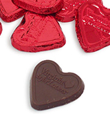 18608 - Chocolate Hearts, Bag of 50 - thumbnail