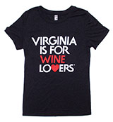 VA117175 - Womens Wine Lovers T-Shirt, Black - thumbnail