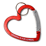 127626 - Red Heart Carabiner - thumbnail