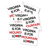 127811 - Sticker, Mountain Lovers, Waterproof Pack of 10 - thumbnail