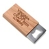 127748 - Craft Beer Lovers Wooden Bottle Opener - thumbnail
