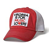 127769 - Music Lovers Red Trucker Hat - thumbnail