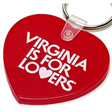 17686 - Heart-Shaped Vinyl Key Chain - thumbnail