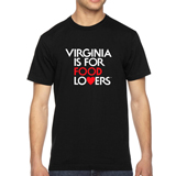 VA129007 - Black Short Sleeve T-Shirt, Food Lovers - thumbnail