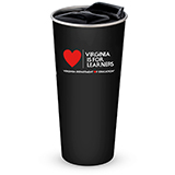 301760 - Black 16 oz. Basecamp® Stainless Steel Tumbler, Virginia is for Learners - thumbnail