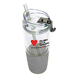 301772 - Gray 22 oz. Tumbler with Straw, Virginia is for Learners - thumbnail